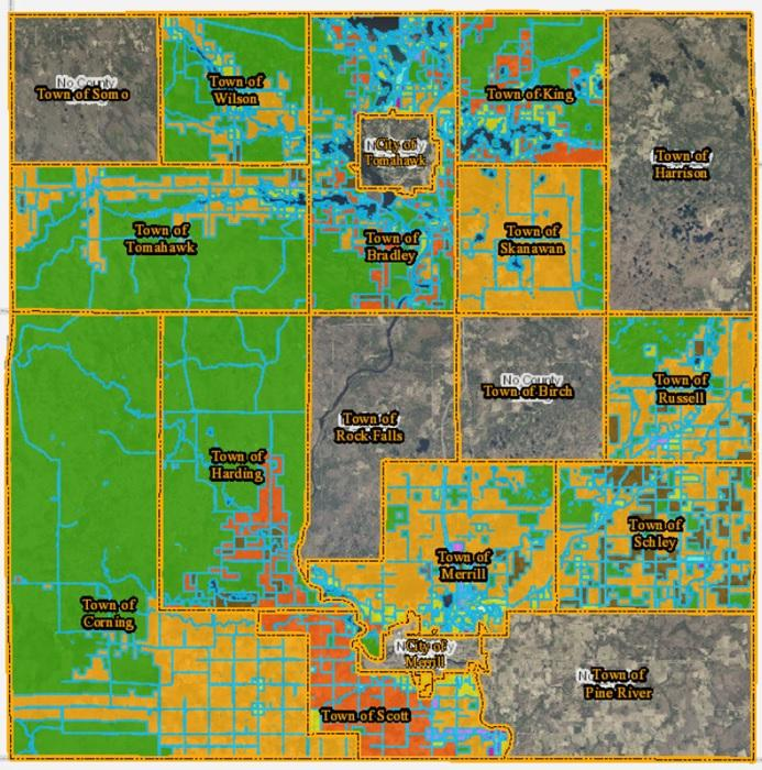 Zoning And Land Use Lincoln County Wisconsin - Us-land-use-map
